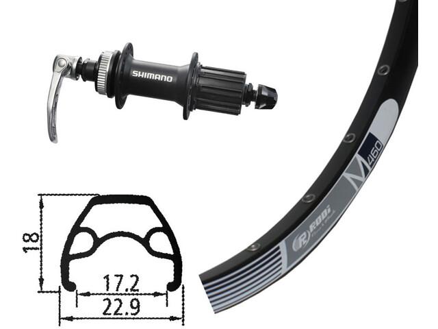 RODI M460 26x1.9 32 t Alivio 435 Centerlock Roue Arr Noir